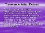 transcendentalism defined