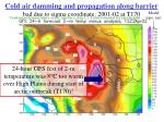 cold air damming and propagation along barrier bad due to sigma coordinate 2001 02 at t170