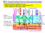 ruc land surface process parameterization