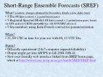 short range ensemble forecasts sref