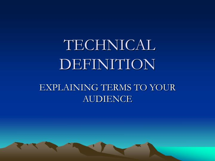 technical definition n.