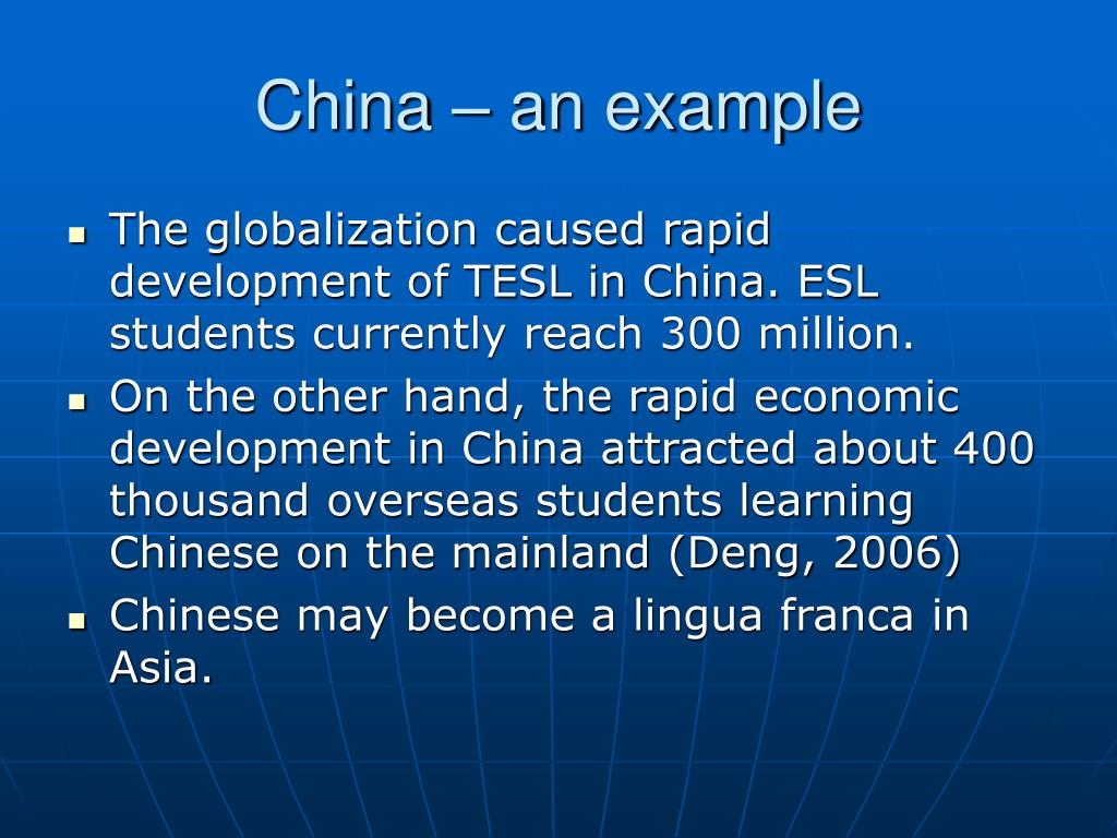 China – an example