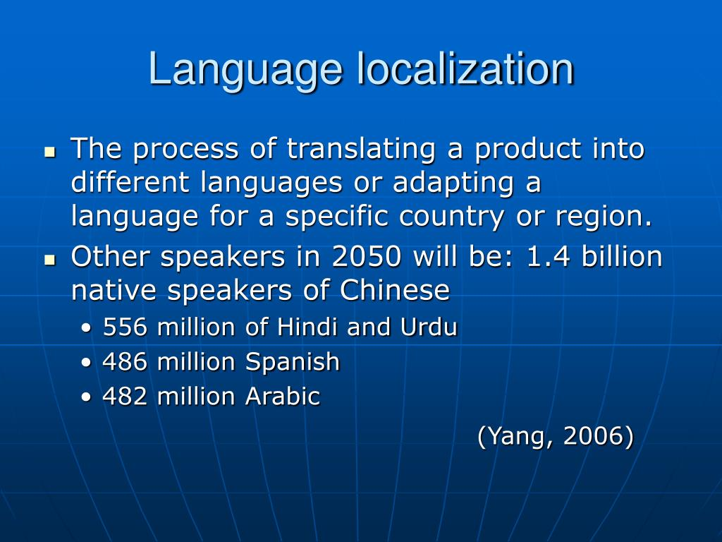 Language localization