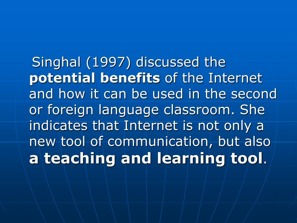 Singhal (1997) discussed the