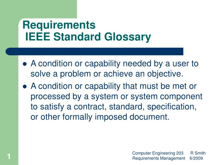 requirements ieee standard glossary n.