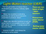 light water reactor lwr