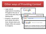 other ways of providing context