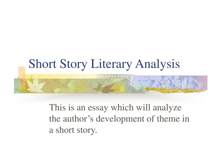 short story literary analysis n.