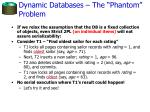 dynamic databases the phantom problem