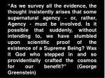 george greenstein quote