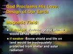 god proclaims his love design of our earth magnetic field