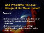 god proclaims his love design of our solar system5