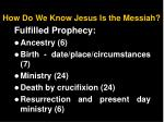 how do we know jesus is the messiah
