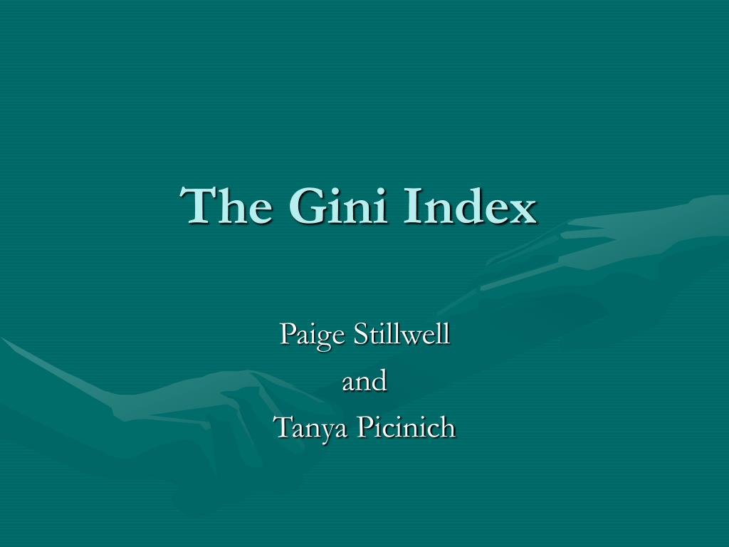 the gini index l.