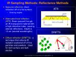 ir sampling methods reflectance methods