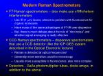modern raman spectrometers