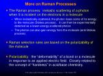 more on raman processes