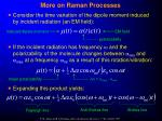 more on raman processes19