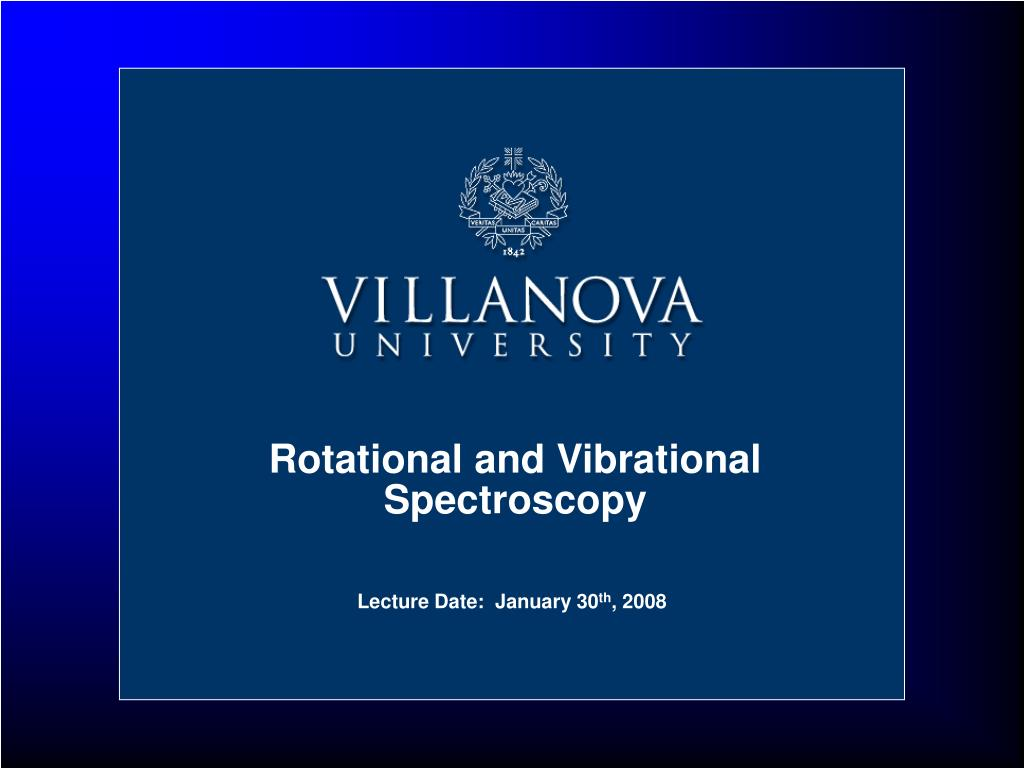 rotational and vibrational spectroscopy l.