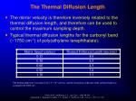 the thermal diffusion length54