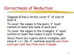 correctness of reduction97