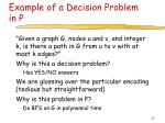 example of a decision problem in p
