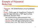 example of polynomial reduction