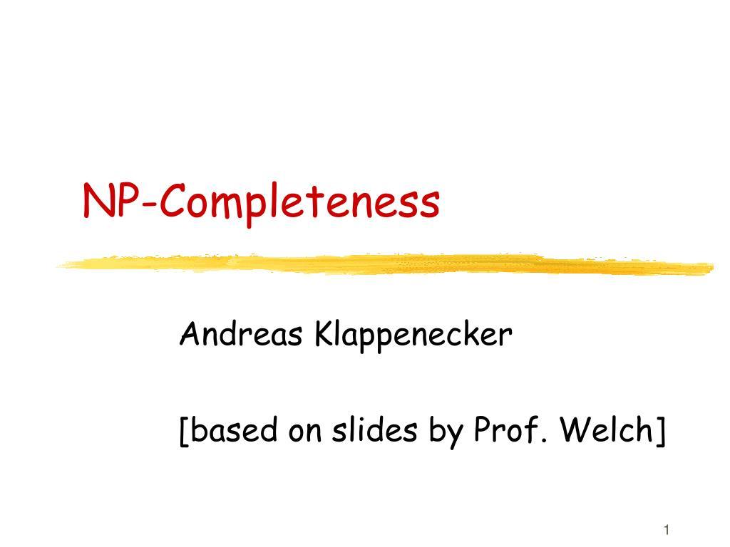 np completeness l.