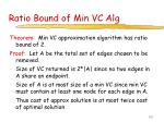 ratio bound of min vc alg
