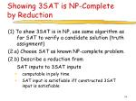 showing 3sat is np complete by reduction