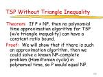 tsp without triangle inequality
