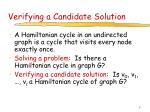 verifying a candidate solution12
