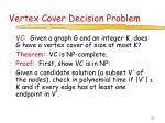 vertex cover decision problem