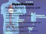 hypothermie r chauffement externe actif