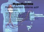 hypothermie r chauffement externe actif25
