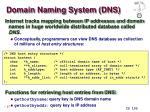 domain naming system dns