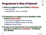 programmer s view of internet