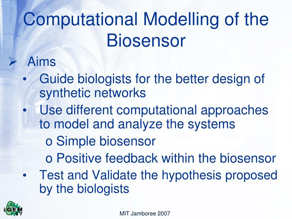 Computational Modelling of the Biosensor