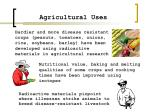agricultural uses