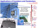 applications of insulators and conductors