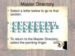 master directory