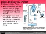 diesel engine fuel system distributor injection pump