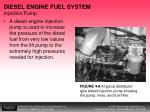 diesel engine fuel system injection pump