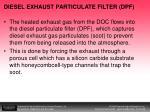 diesel exhaust particulate filter dpf