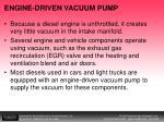 engine driven vacuum pump
