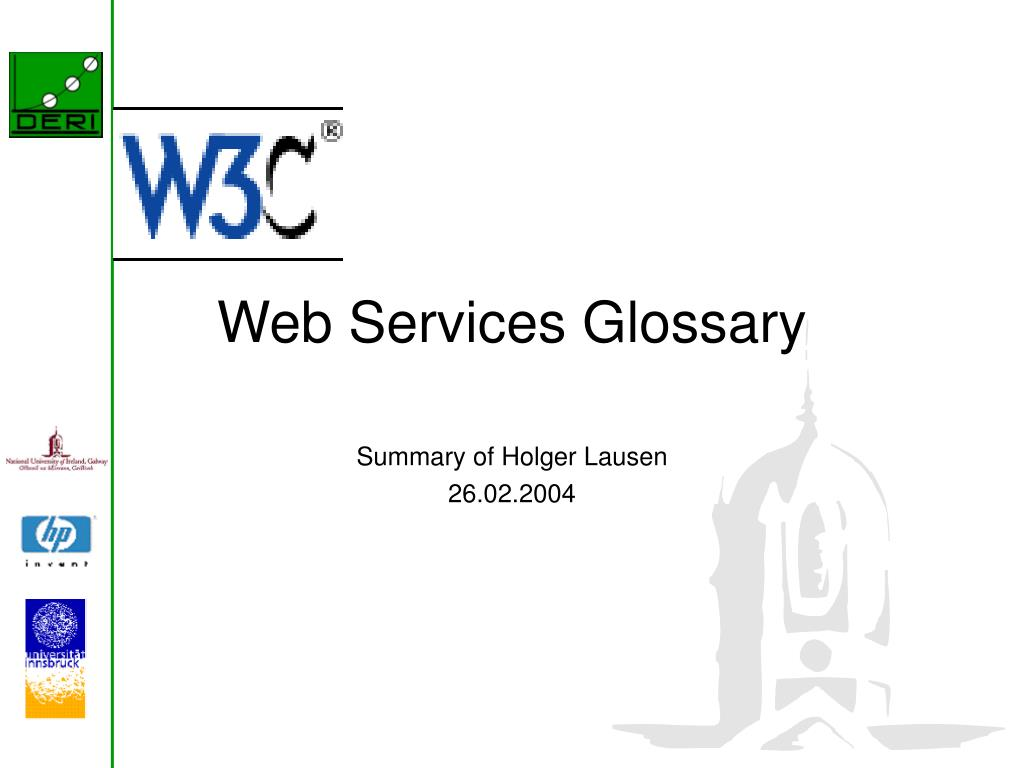 web services glossary l.