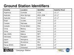 ground station identifiers