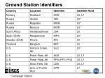 ground station identifiers28