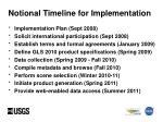 notional timeline for implementation