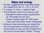 mass and energy